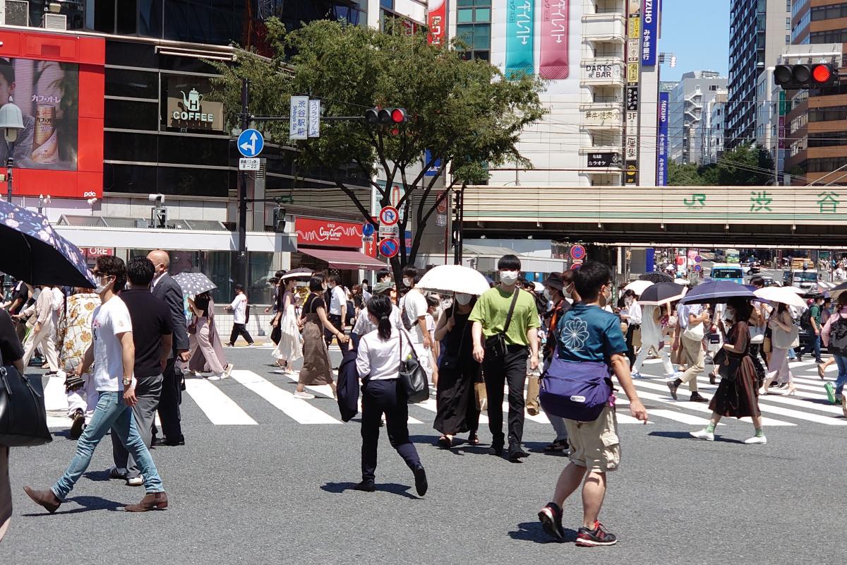 Olimpiyat arifesinde Tokyolular evde kalmadı