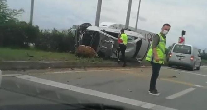 Rizede trafik kazası: 7 yaralı