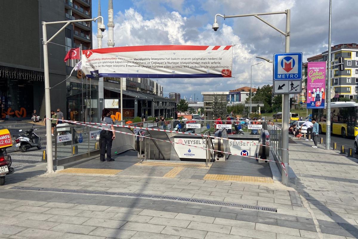 Eyüpsultan'daki metroda seferler normale döndü