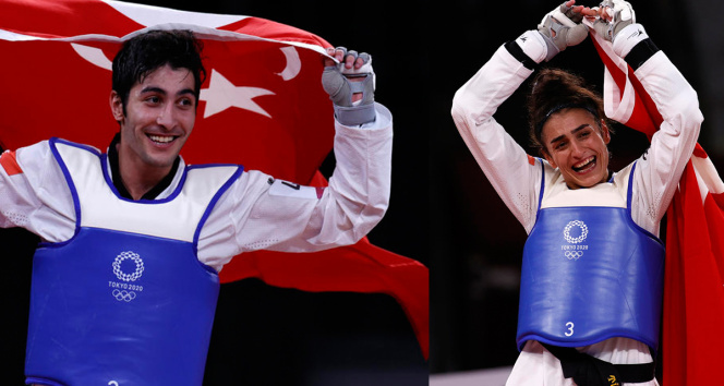 Tokyo 2020de madalyalar gelmeye devam ediyor! Hakan Reçber ve Hatice Kübradan büyük başarı
