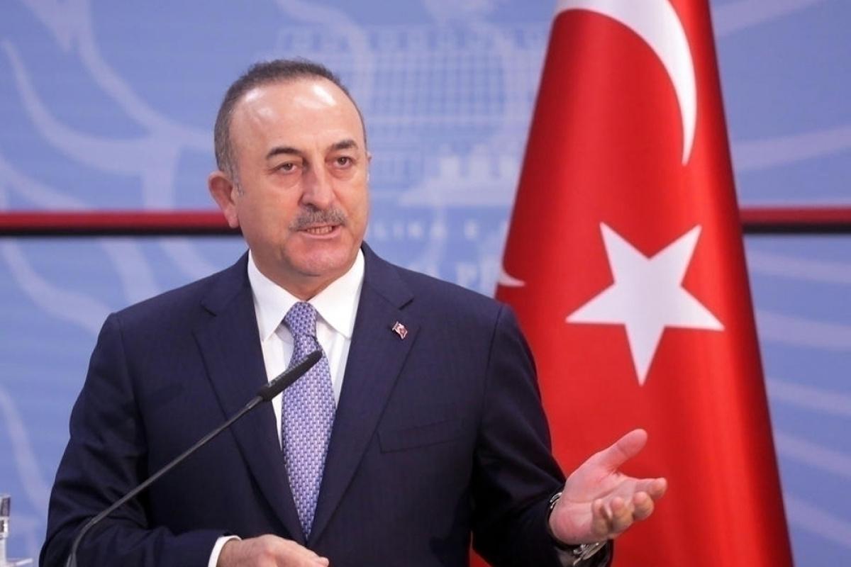 Bakan Çavuşoğlu, Fransa Dışişleri Bakanı Drian ile görüştü
