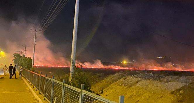 Adıyamanda anız yangını: 4 kişi dumandan zehirlendi
