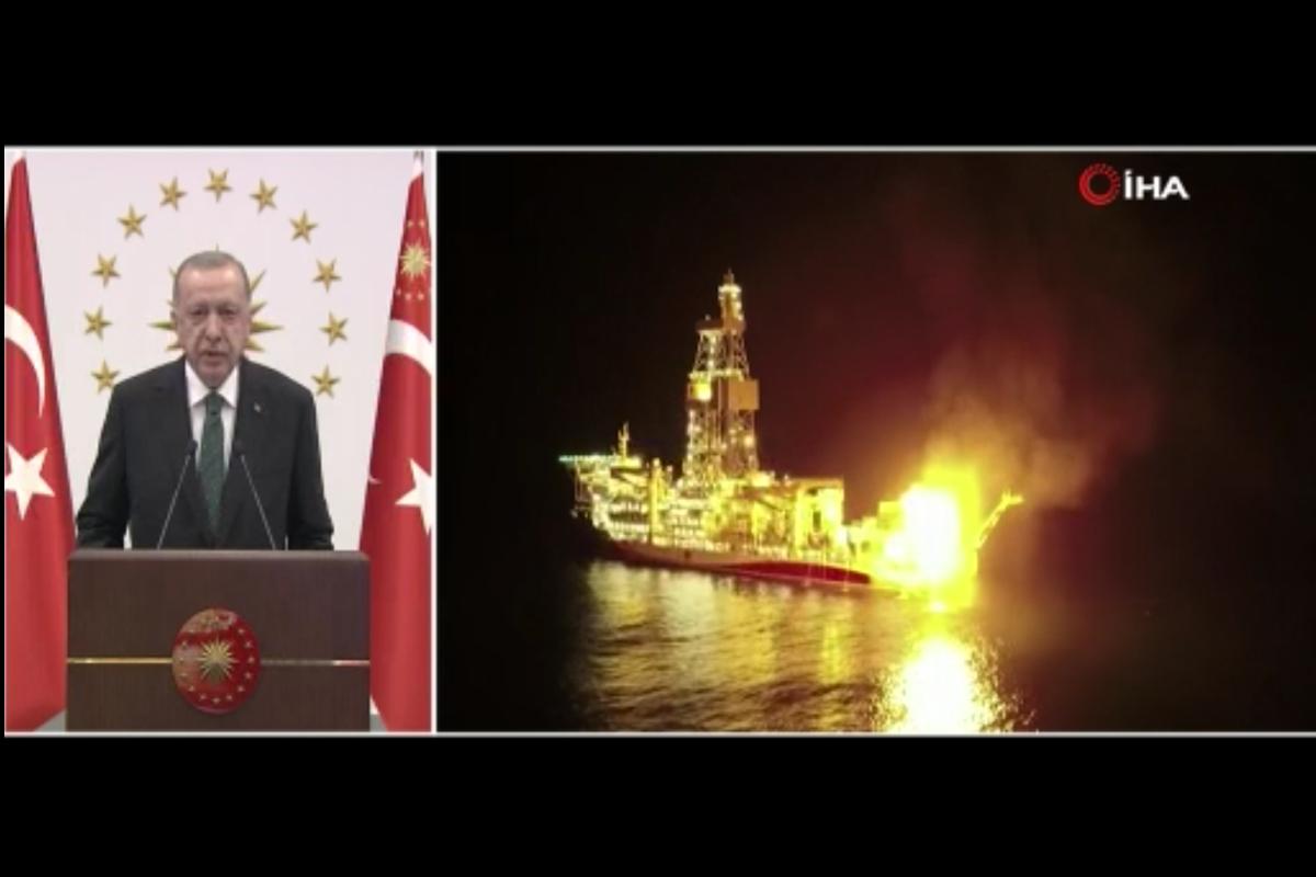 Cumhurbaşkanı Erdoğan 'Sakarya Sahası Gaz Yakma Töreni'ne katıldı