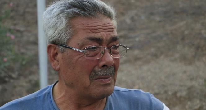 Orman yangınında evini kaybeden adamın gözyaşları yürekleri dağladı