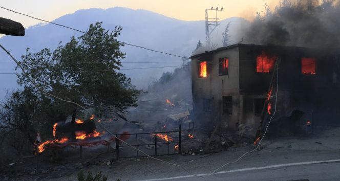 Adanadaki orman yangınında evler alevlere teslim oldu
