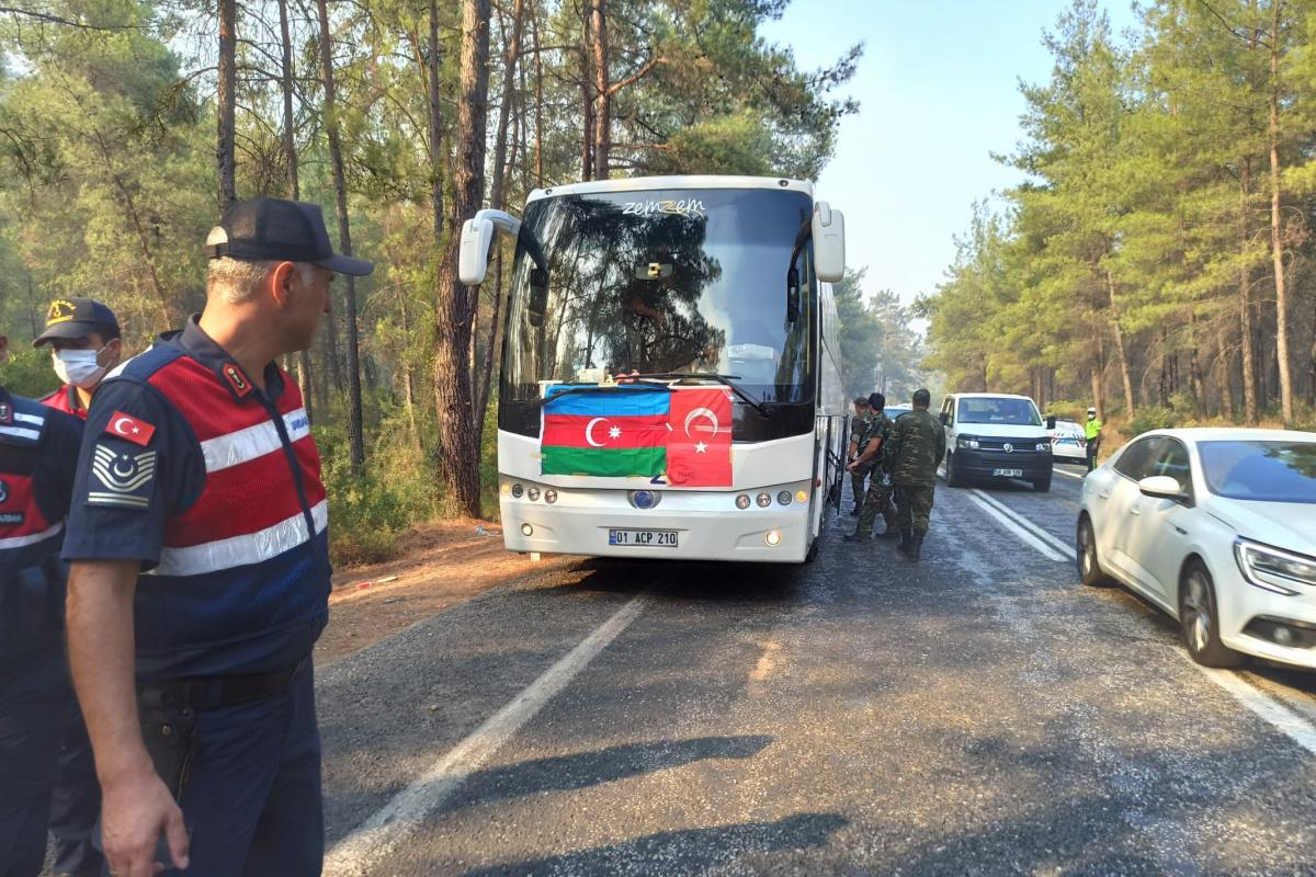 Kardeş ülke Azerbaycan'dan Marmaris'e destek ekibi