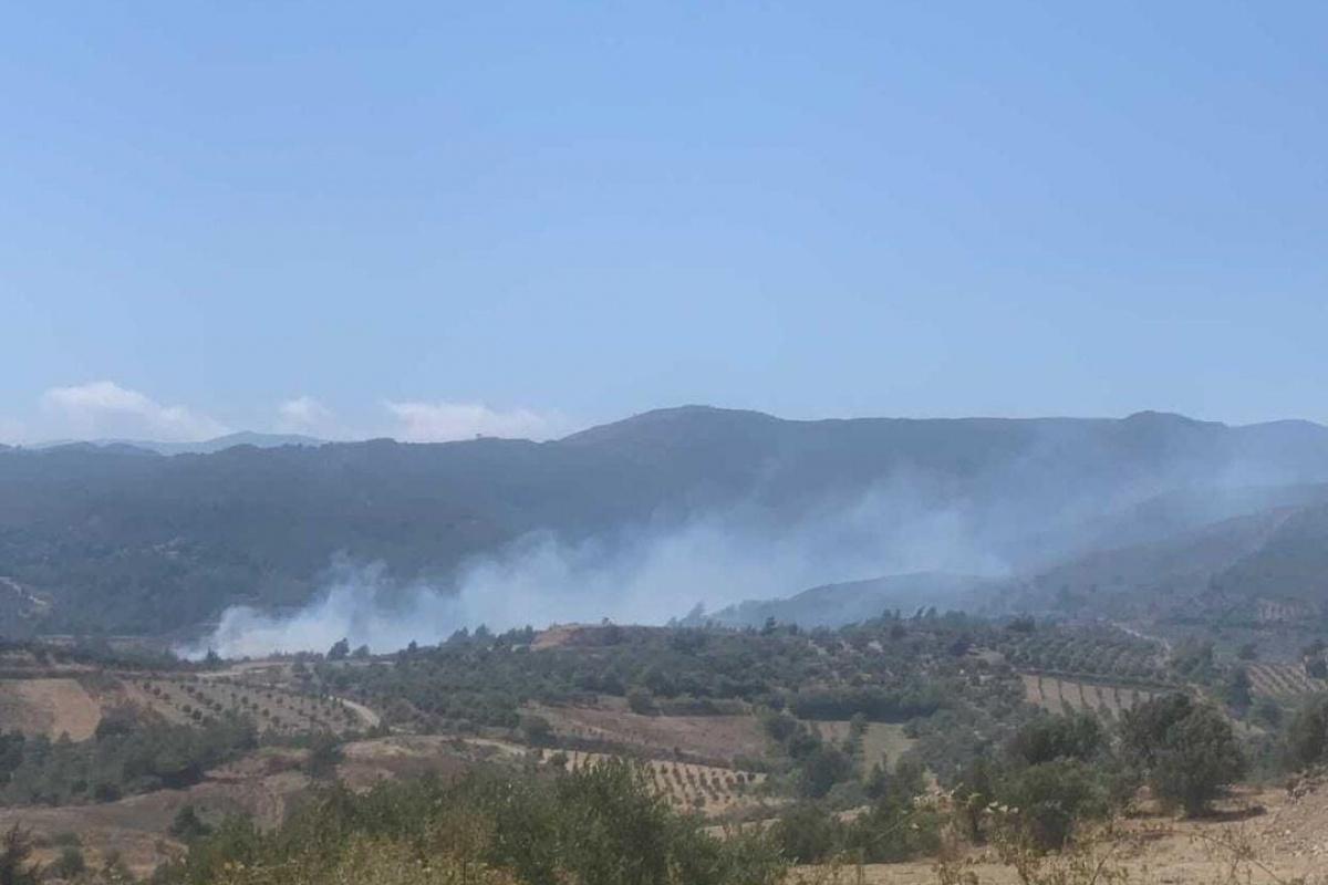Hatay'da ormanlık alanın yakınında yeniden yangın çıktı