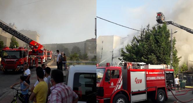 Ataşehirde mobilya fabrikasında korkutan yangın
