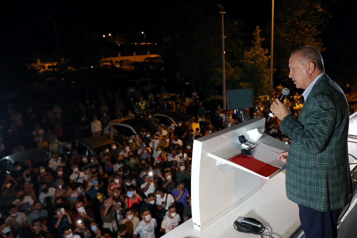 Cumhurbaşkanı Erdoğan: 'Yangınlarda terör şüphesi, bazı emarelere ulaşıldı'