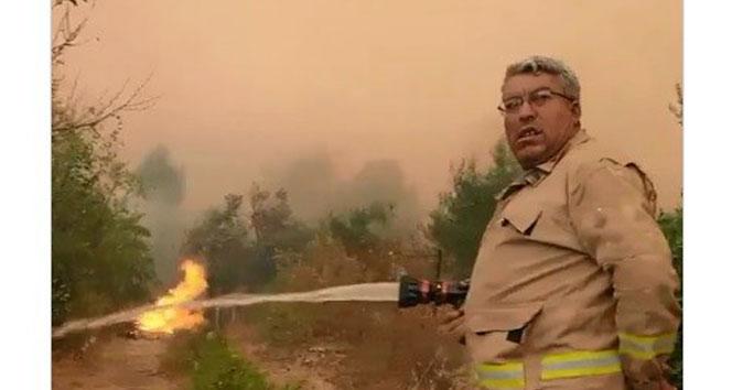 Orman yangını şehidi Yaşar Cinbaşın son görüntüleri paylaşıldı