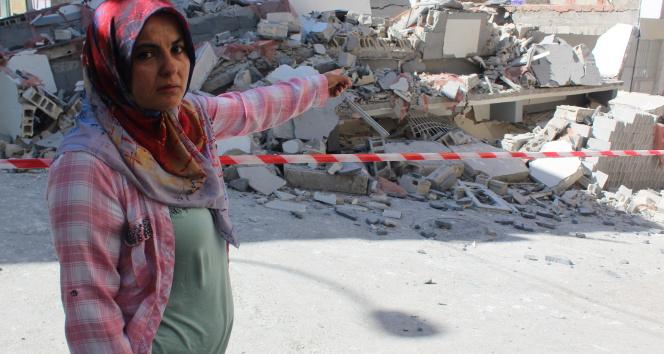Gaziantepte yeni yapılan 5 katlı bina çöktü, facianın eşiğinden dönüldü