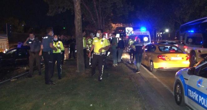 Sarıyerde yarışan iki otomobil zincirleme kazaya neden oldu: 6 yaralı