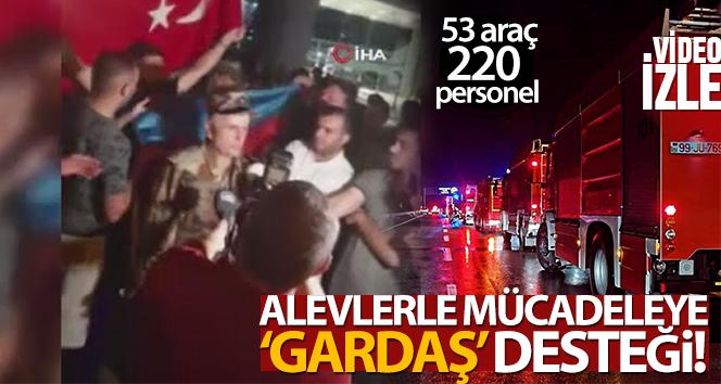 Azerbaycan'dan gelen ekip Türkiye'ye giriş yaptı