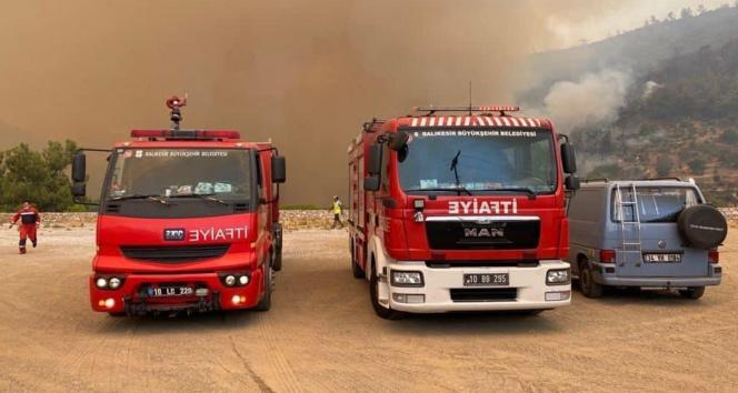Balıkesirden Marmaris yangın bölgesine ikinci ekip yola çıktı