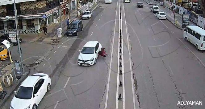Yayanın dikkatsizliği kazaya neden oldu
