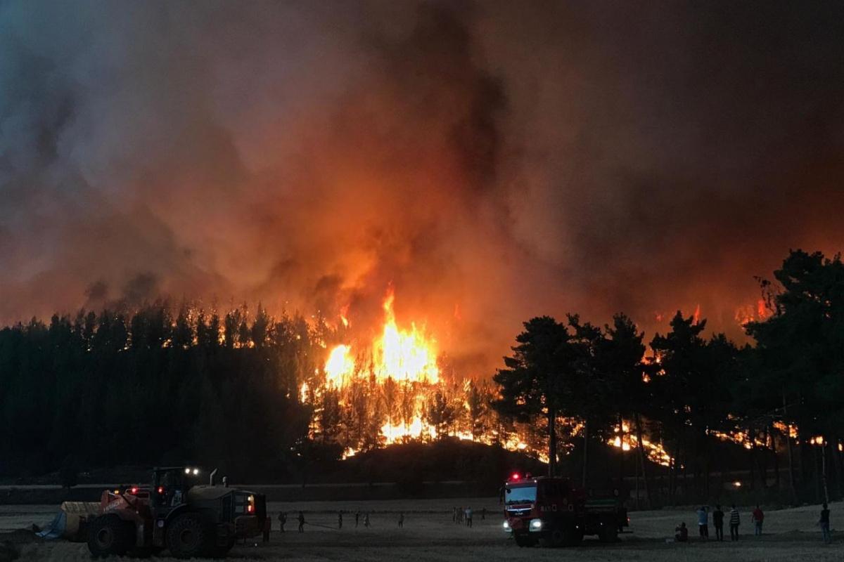 Kavaklıdere yangınında da köyler tahliye edilmeye başlandı