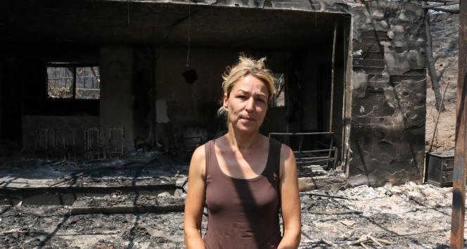 Manavgat yangınında çiftliği küle dönen kadın: Cehennemi yaşadım