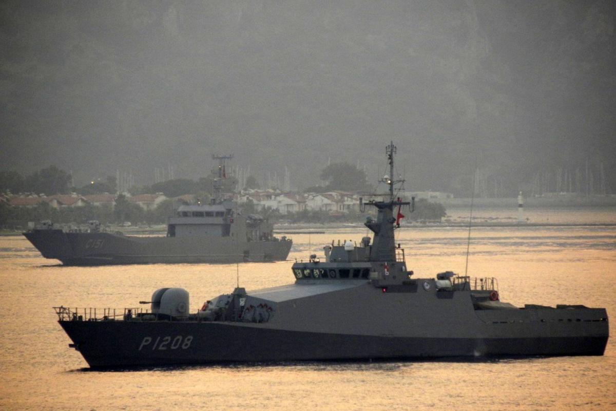 MSB, Ören ve Milas bölgelerine bir karakol botu ve bir çıkarma gemisi sevk edildiğini duyurdu