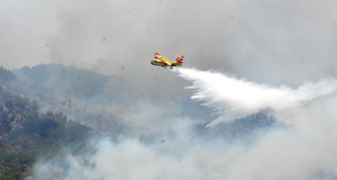 İspanyol yangın söndürme uçakları Köyceğize müdahale ediyor