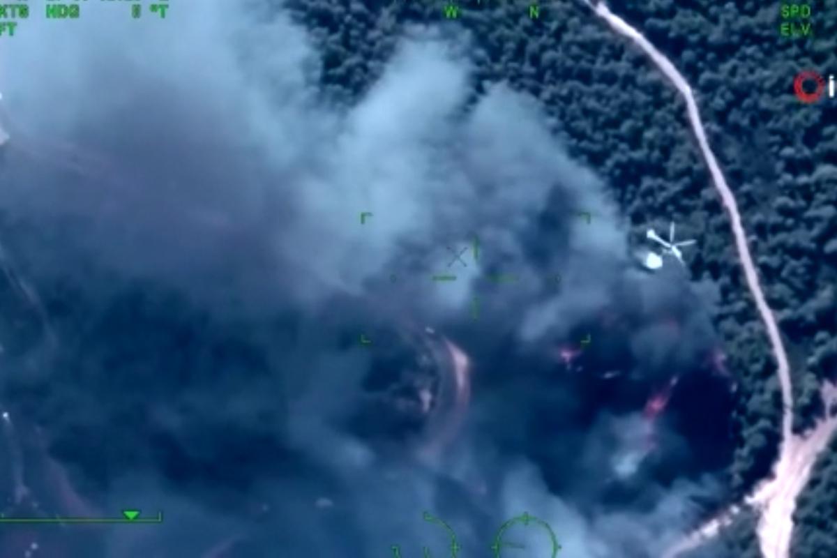 Savunma Sanayii Başkanı Demir, yangınlarda görev alan İHA'lardan görüntüler paylaştı
