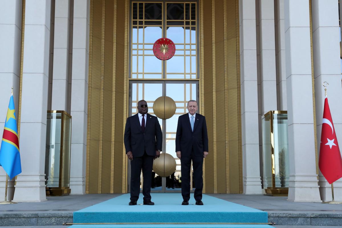 Cumhurbaşkanı Erdoğan, Kongo Cumhurbaşkanı Tshilomboyu resmi törenle karşıladı