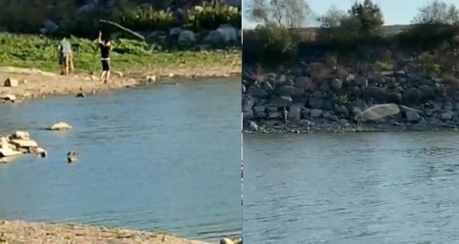 Yasağı dinlemediler, Sazlıbosna Barajında ağ ile balık tuttular
