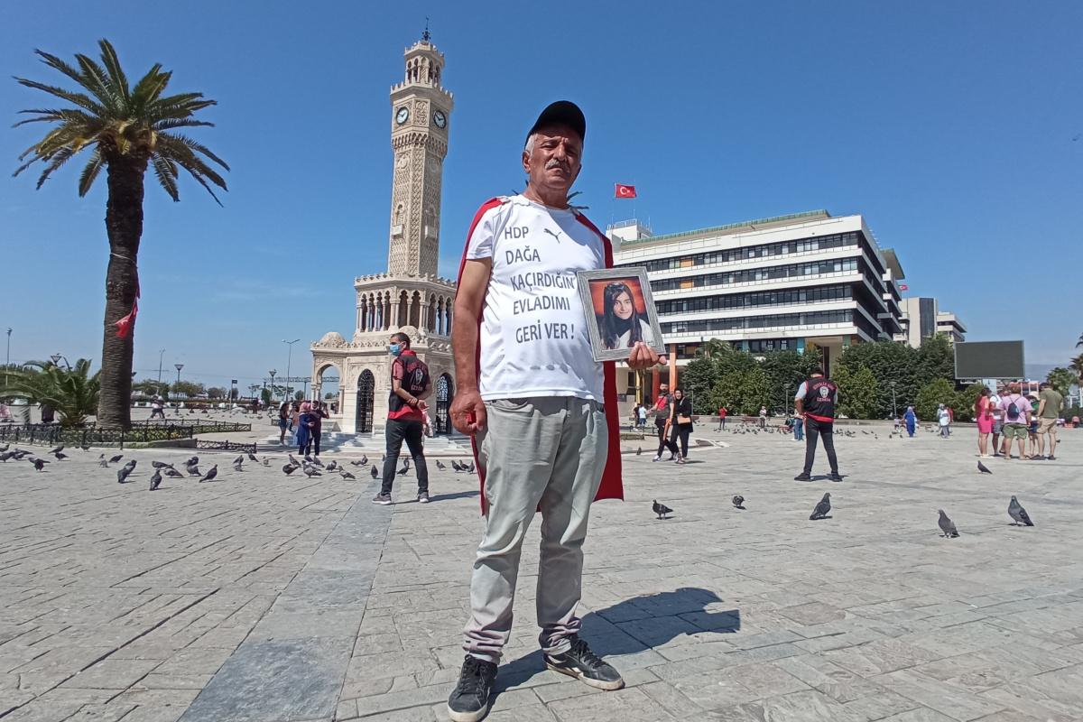 742 gündür evlat nöbeti tutan baba Ankara'ya yürüyüşe geçti