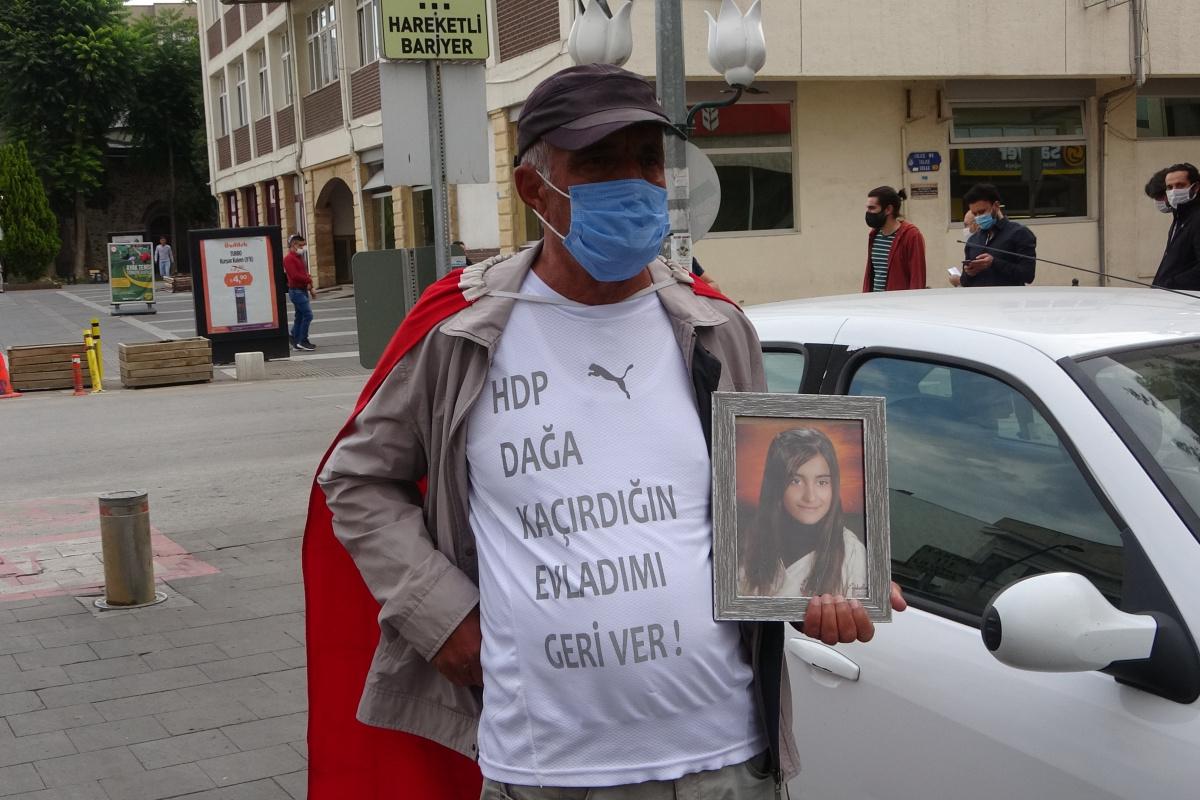 HDP Genel Merkezine yürüyen baba, kızına çağrıda bulundu