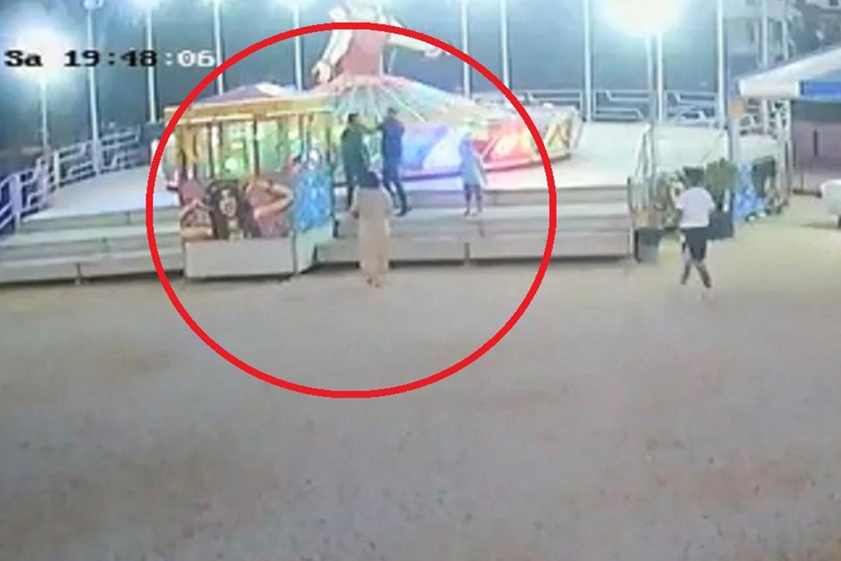 Lunaparkta balerine binme kavgası kamerada
