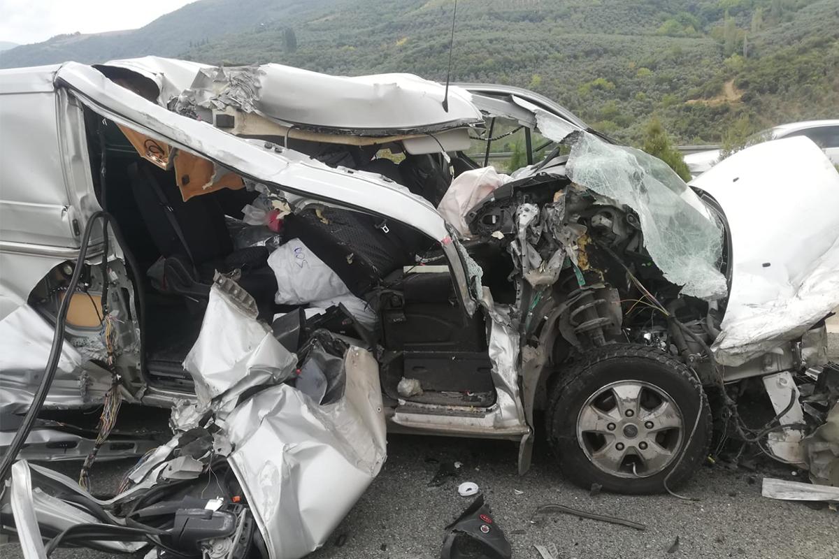 Bu kazadan burnu bile kanamadan kurtuldu