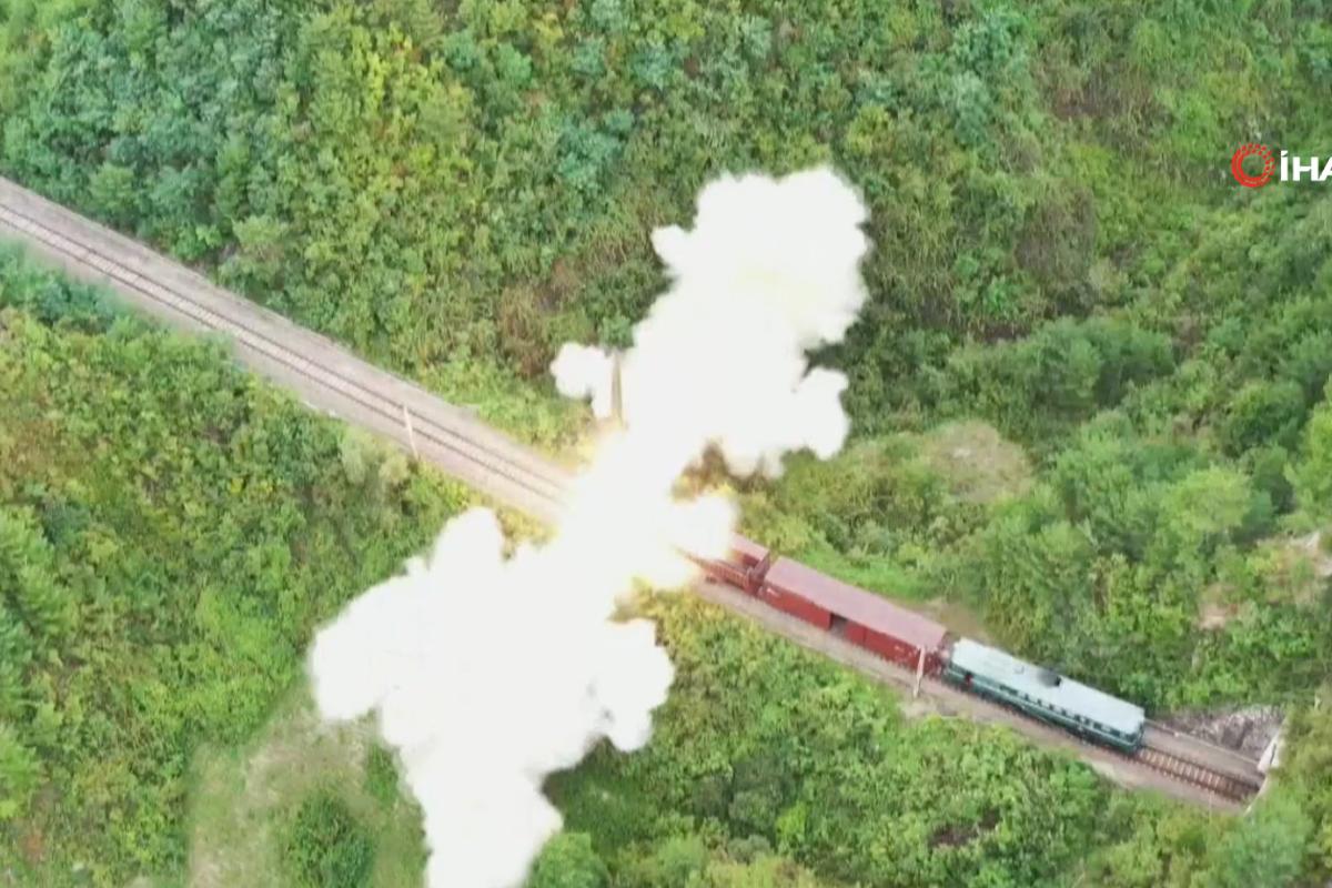 Kuzey Kore, trenden yaptığı füze denemesinin görüntülerini yayınladı