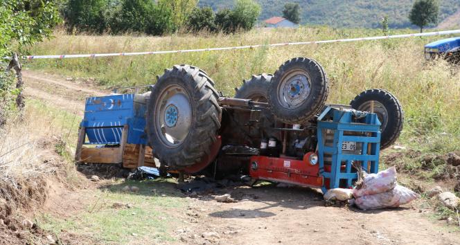 Amasyada feci kaza: Traktörün altında can verdi