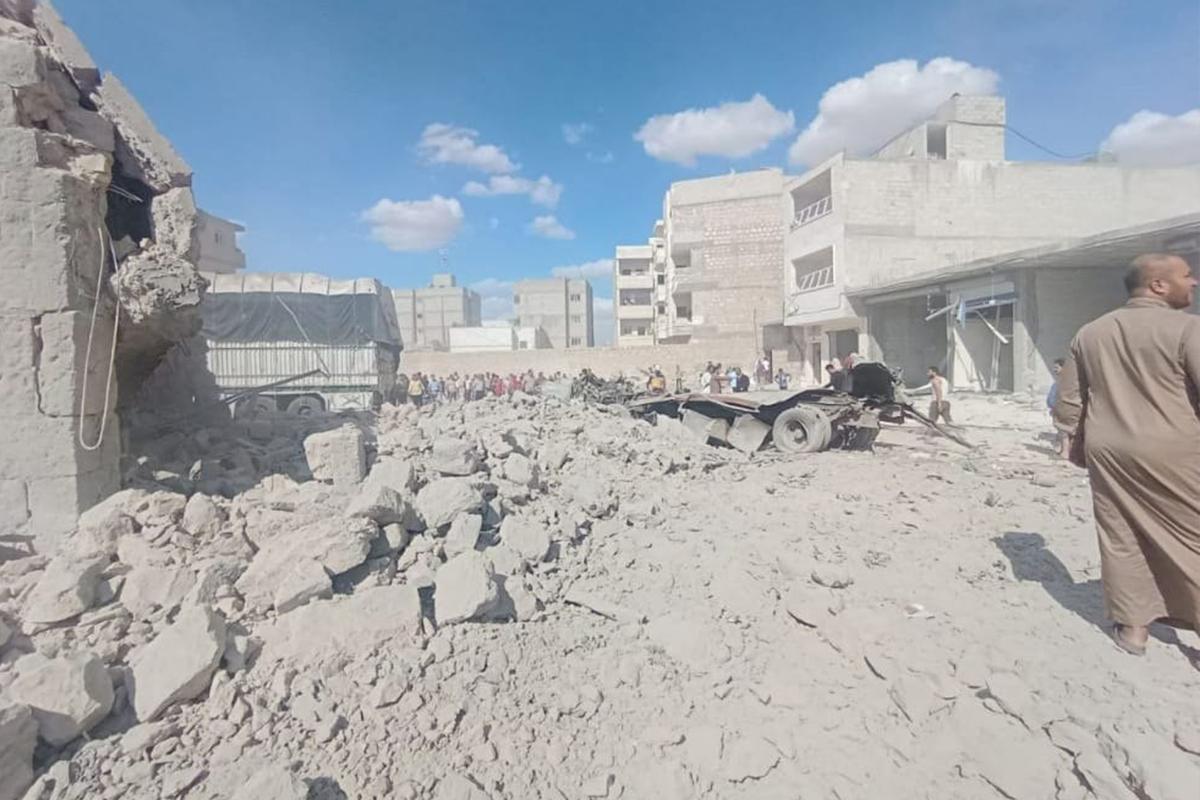 El Bab'da bomba yüklü araç patladı: 4 yaralı
