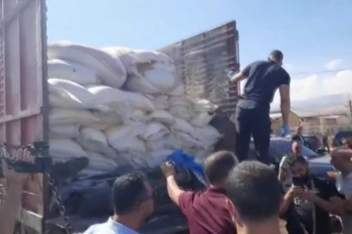 Lübnan'da 20 ton amonyum nitrat ele geçirildi