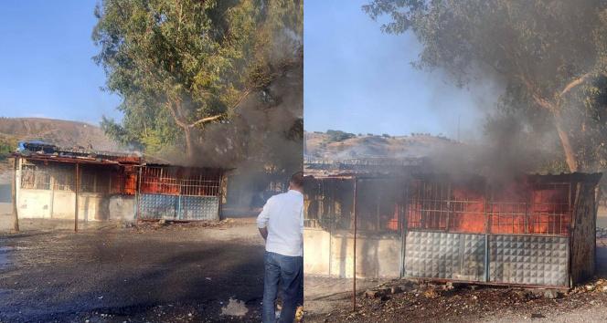 İskelede yangın çıktı, vatandaşlar seferber oldu