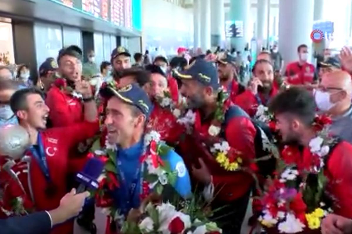 Avrupa Şampiyonu olan Ampute Futbol Milli Takımı'na coşkulu karşılama