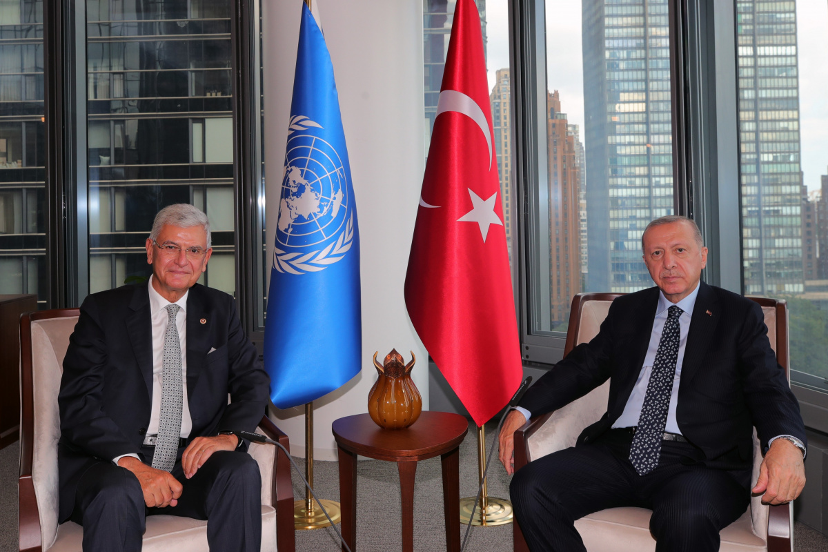 Cumhurbaşkanı Erdoğan, BM 75. Genel Kurulu Başkanı Bozkır'ı kabul etti
