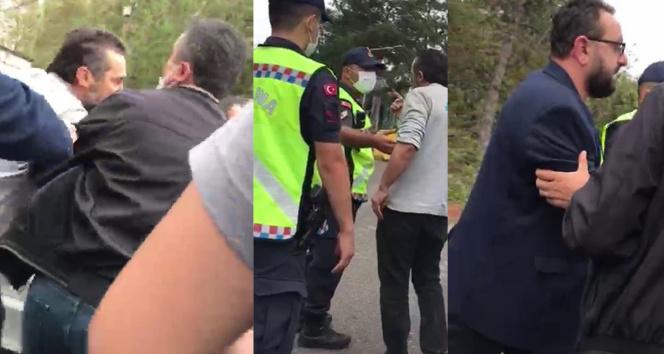 Şilede yangını görüntülemeye çalışan basın mensuplarına saldırdılar