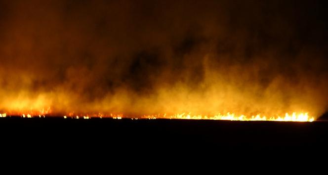 Yüksekovadaki sazlık yangınına müdahale sürüyor