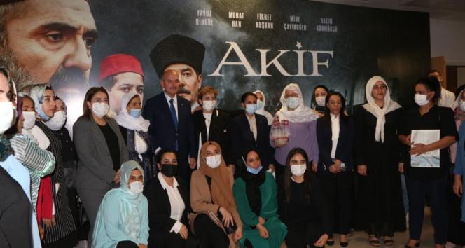 İçişleri Bakanı Süleyman Soylu, Şırnakta Akif filminin galasına katıldı