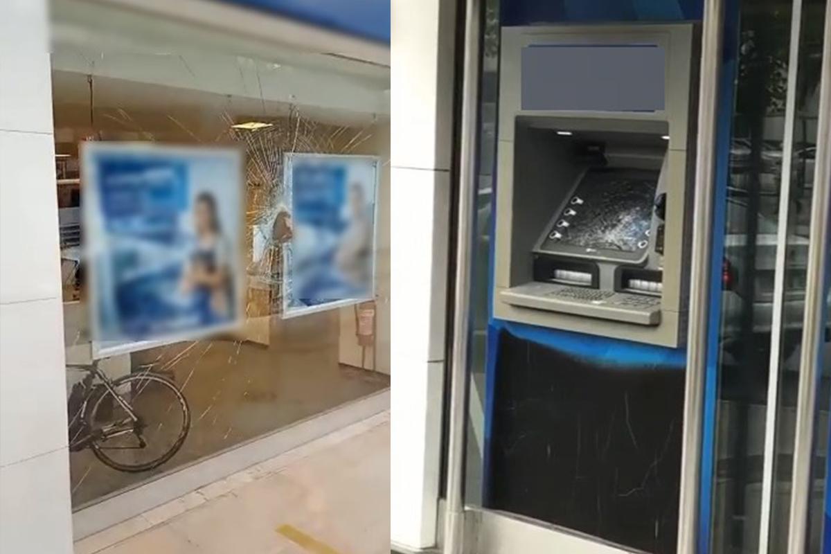 'Japonya ve Amerika'dan 100 bin dolar gelecek' dedi, bankanın camlarını kırdı