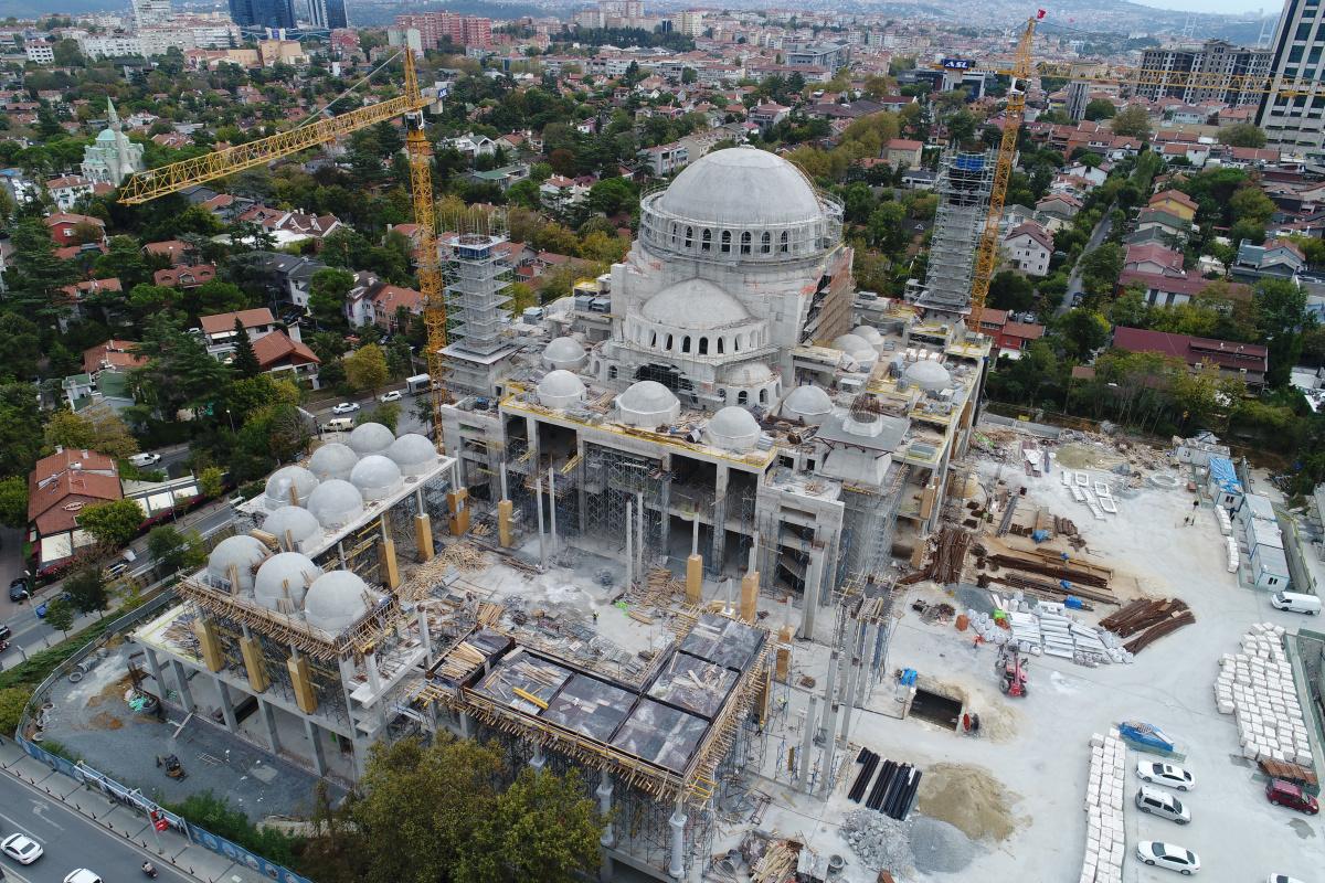Barbaros Hayrettin Paşa Camii'nin kaba inşaatının yüzde 95'i tamamlandı