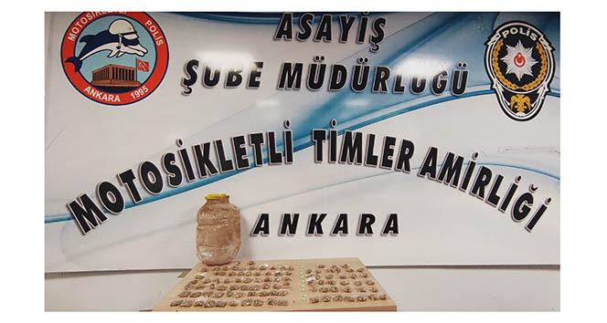 Başkentte 32 paket satışa hazır halde uyuşturucu madde ele geçirildi