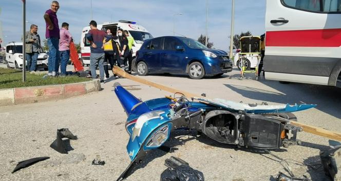 Bursada anne ve kızının ölümden döndüğü kaza kamerada