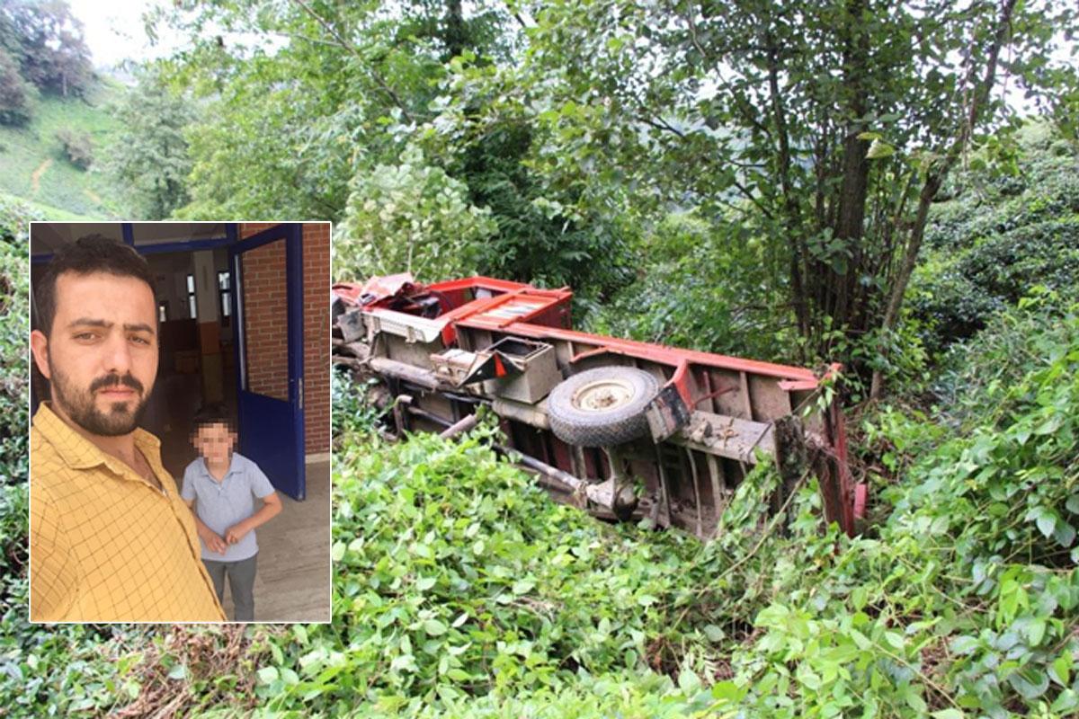 Kamyonet 100 metrelik uçurumdan yuvarlandı! Sürücü öldü, 10 yaşındaki çocuk sağ kurtuldu