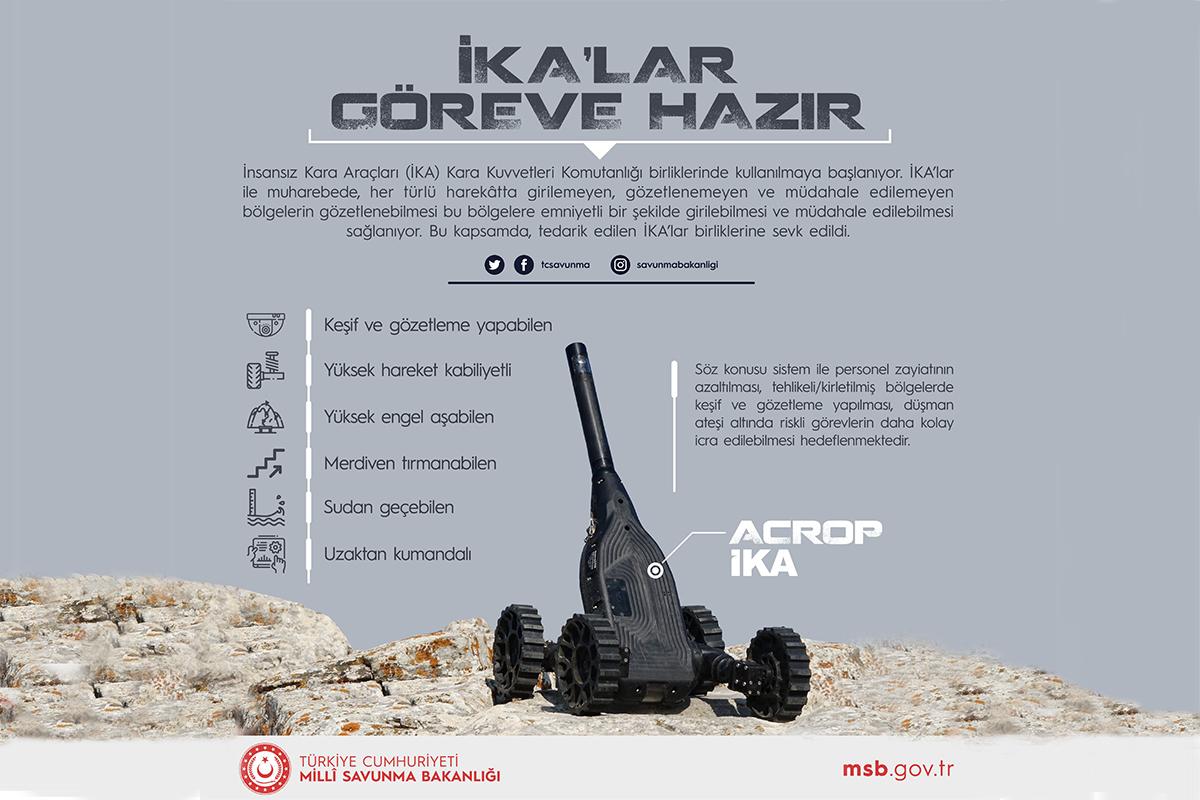 İnsansız kara araçları TSKda kullanılmaya başlandı