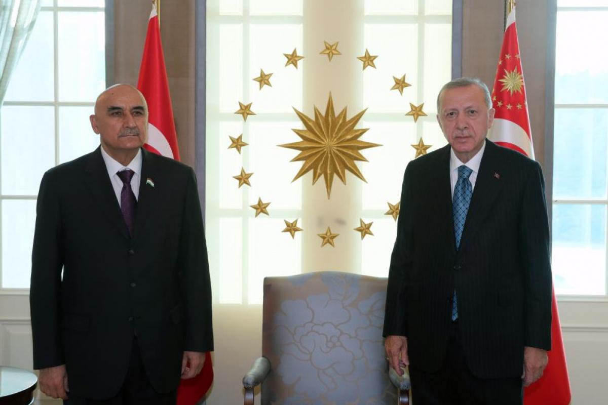 Cumhurbaşkanı Erdoğan, Tacikistan Meclis Başkanı Zokirzoda'yı kabul etti