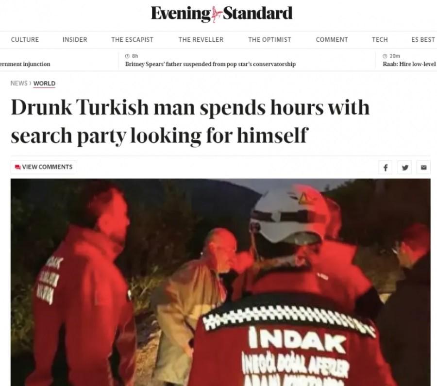 Bursa'da kendini arayan adam dünya gündeminde
