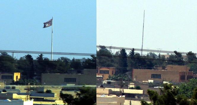 Tel Abyaddaki IŞİD bayrağı indirildi