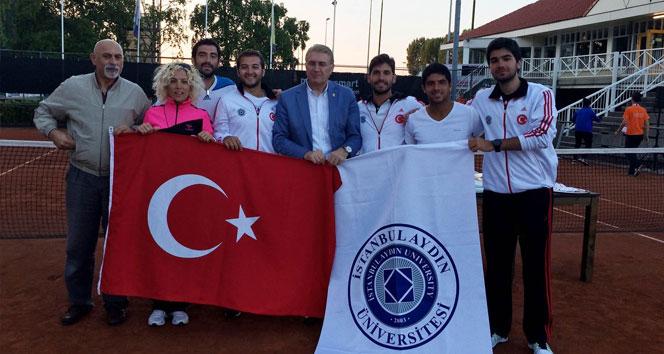 Aydın Üniversitesi Erkek Tenis Takımı Avrupa Şampiyonu